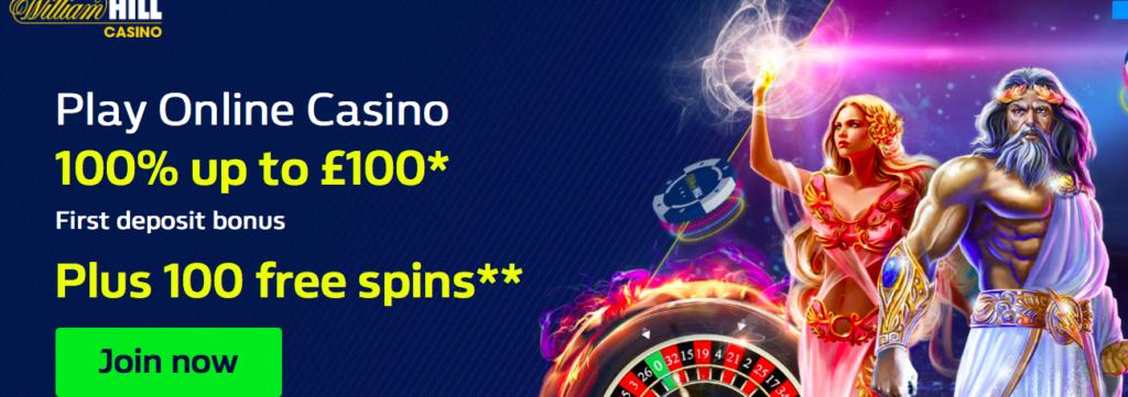 William hill casino free spin